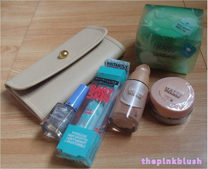 maybelline, etude house and san san products