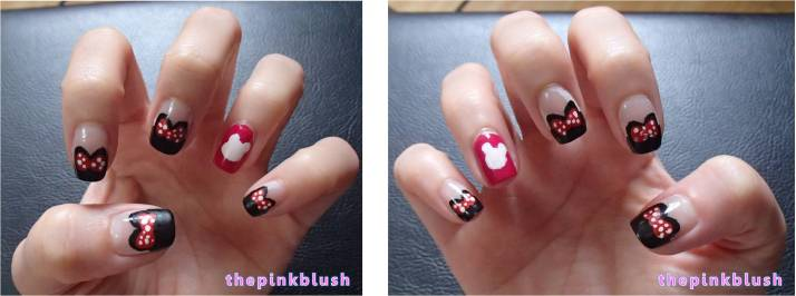 minnie mouse nails2