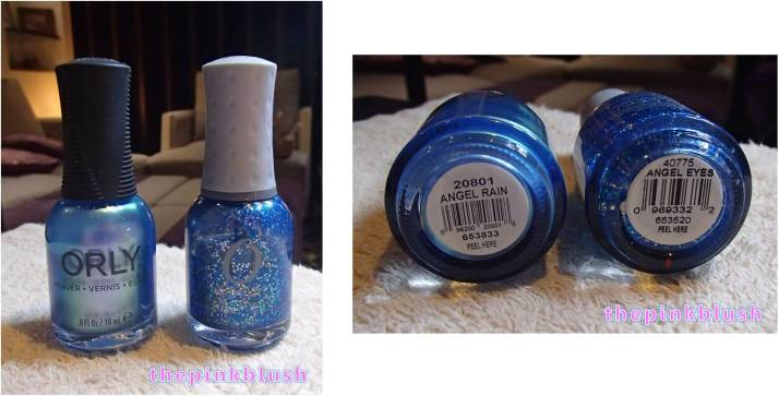 orly angel rain and angel eyes polish