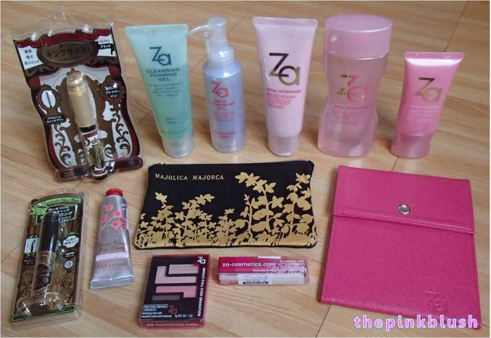 za-cosmetics, l'occitane and majolica majorca products purchase