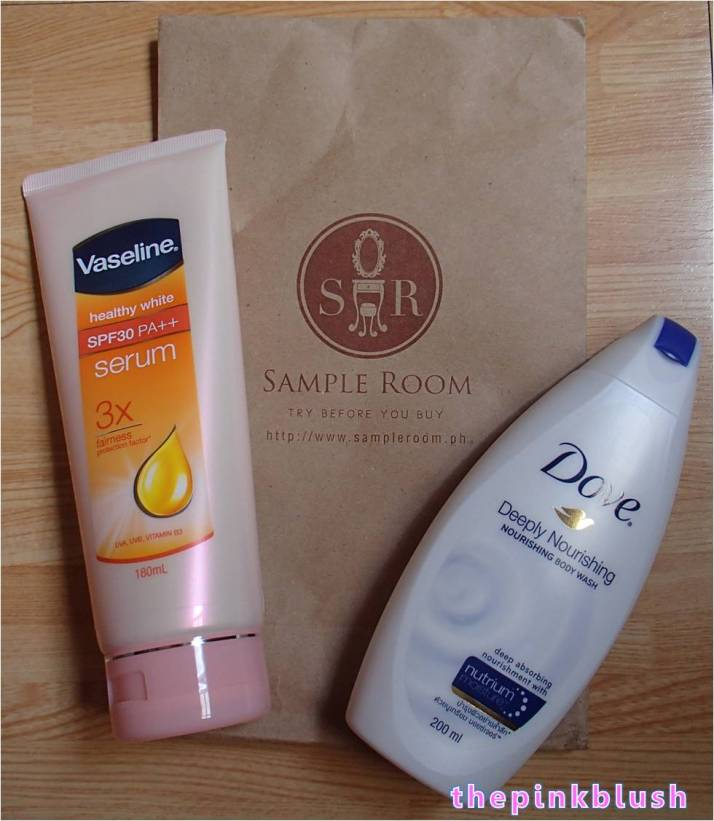 sample room package vaseline and dove