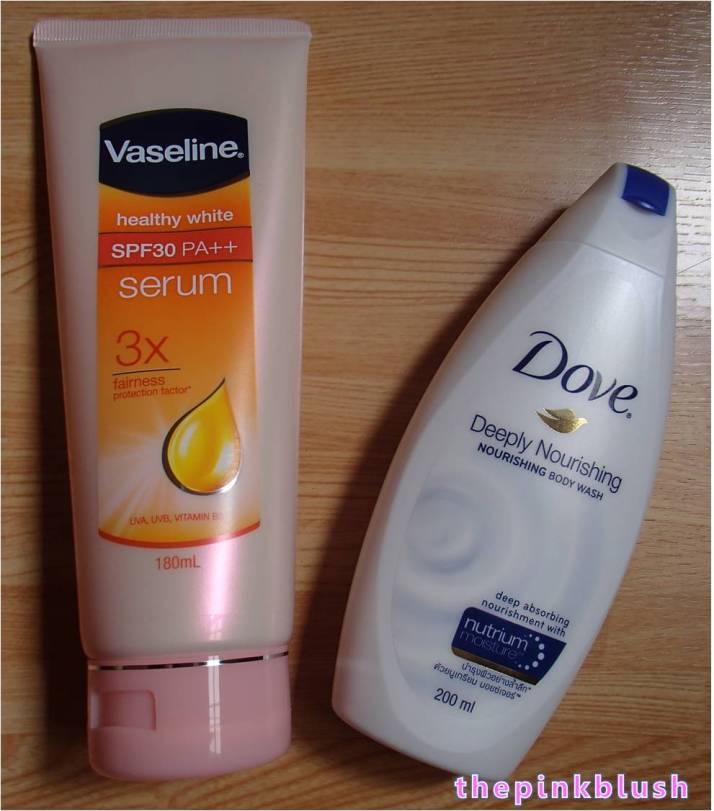 sample room package vaseline and dove2