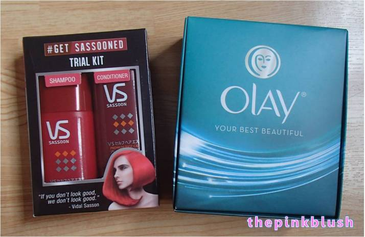 vidal sassoon and olay trial kits