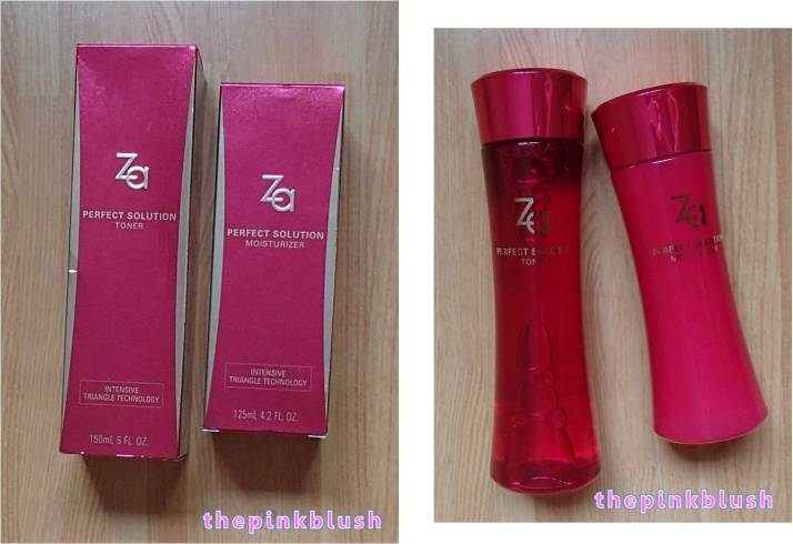 za-cosmetics purchase - perfect solution toner and moisturizer