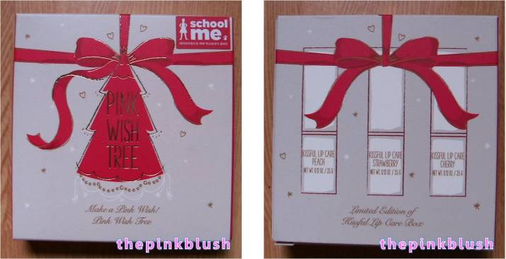etude house pink wish tree kissful lip care box